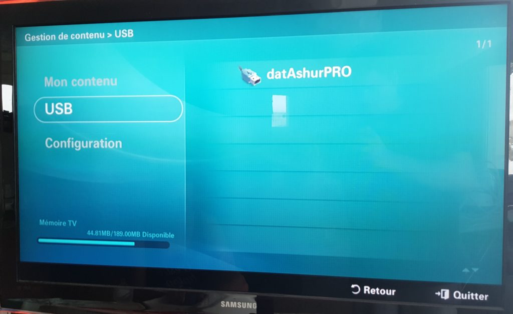 iStorage Datashur pro on samsung tv