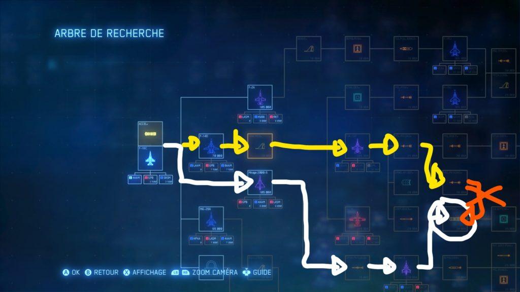 Ace combat 7 plan des pièces