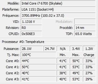 Deepcool Captain 240 Pro températures 2