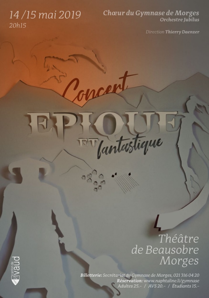Flyer Concert épique et fantastique
