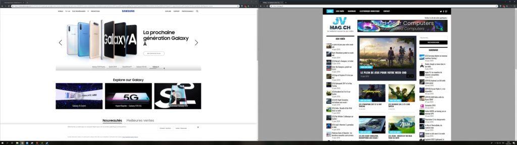 Samsung LC49Rg90 screenshots desktop