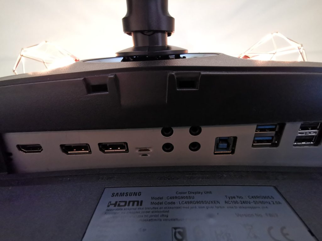 Samsung LC49Rg90 connections