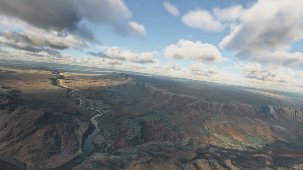 Microsoft Flight Simulator canyon