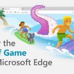 Microsoft Edge vous propose un jeu de Surf !