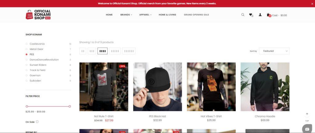 Konami ouvre sa boutique en ligne, profitez des soldes