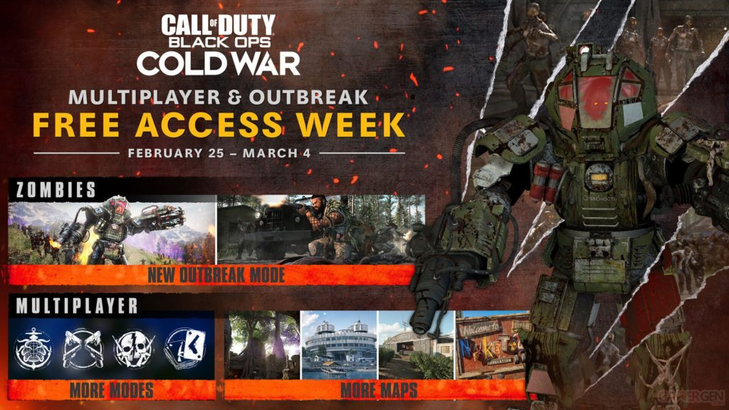 Call of Duty: Outbreak, Zombies, trailer, essai,...